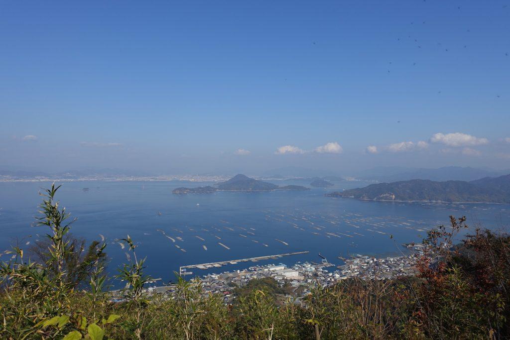 江田島から広島市内を望む